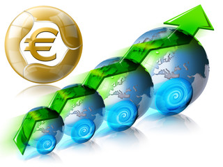 Locomotive Euro Business & Financial world positive