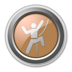 """Bronze 3D Style Button """"Rock Climbing"""""""