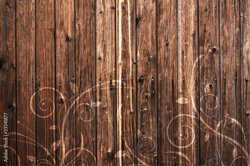 Wood and floral Element