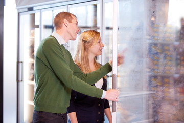 Couple in Frozen Food Section