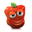 3d Red pepper smiles knowingly