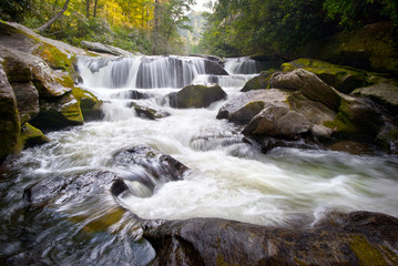 Wild Chattooga River Headwaters Geology Western NC Waterfall