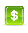 Green Dollar Icon