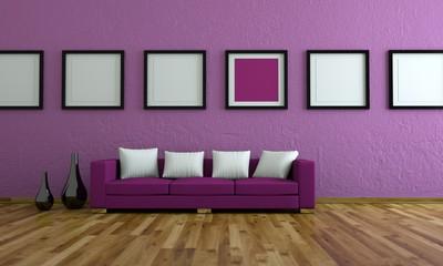 Wohndesign - lila Sofa