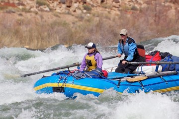 Two Women Rafting the Grand Canyon