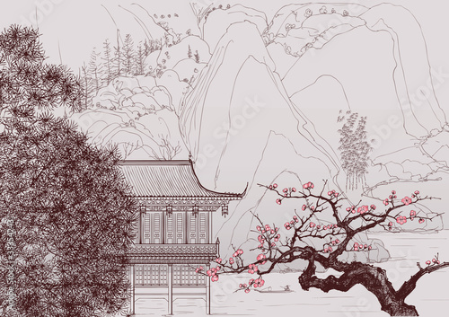 Chinese landscape - 33354243