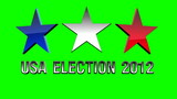 USA presidential election 2012greenscreen