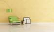 minimalist reading room