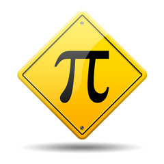 Señal amarilla simbolo pi