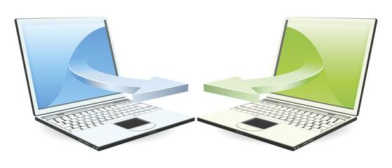 Laptops communicating