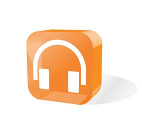 Headphones Icon 3d