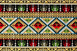 ancient thai woven cloth, pattern2, close