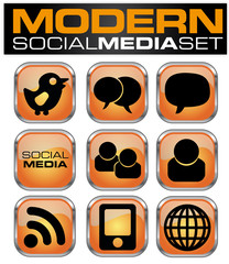 Webbutton Set Social