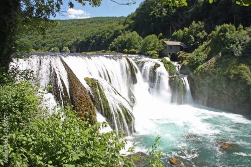 Fototapeten,wasserfall,jugoslawien,una,wasser