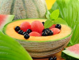 Melone , Johannisbeeren