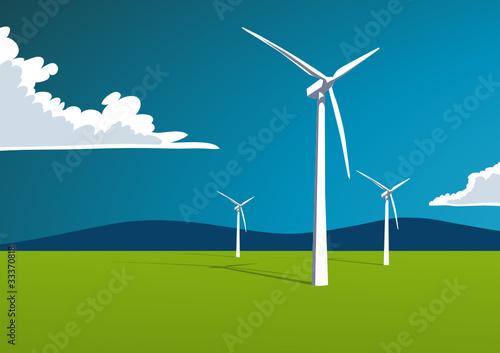 Windenergie, Illustration - 33370818