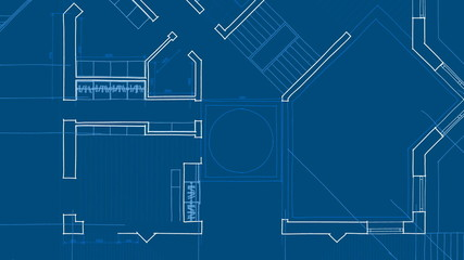 architecture blueprint - house plan