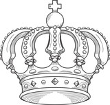 Royalty crown poster