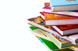 Fototapety stack of children's books