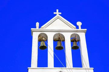 grèce; cyclades; naxos : église, clocher