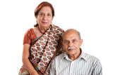 A senior Indian / Asian couple - isolated on white