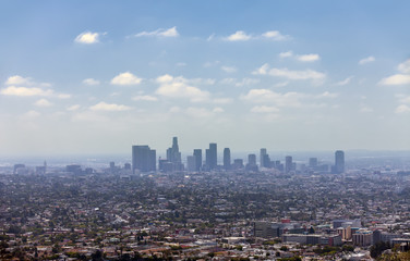 Los Angeles downtown, bird's eye view
