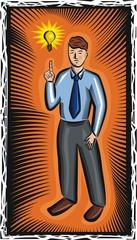 Vector Businessman with New Idea