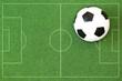 Kunstrasen mit Spielfeld und Fußball
