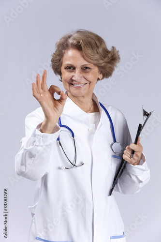 Happy senior doctor