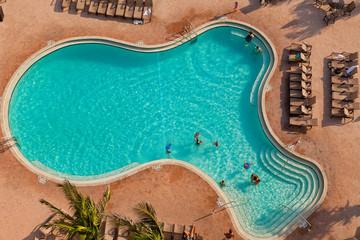 Aeriel View of Large Swimming Pool
