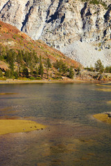 Charming lake Ellery in Yosemite.