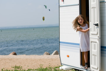 Summer vacation - camping at the beach