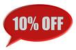 Sprechblase rot 10% OFF