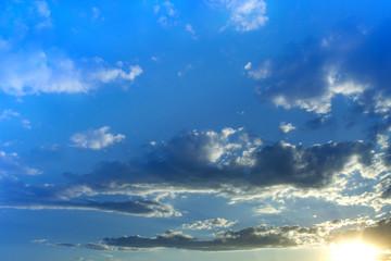 Sunset sky clouds evening