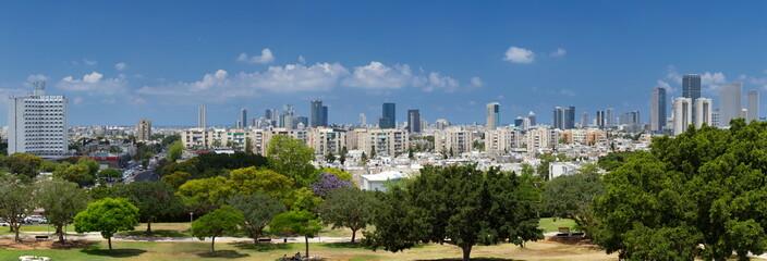 High resolution panorama view of Tel Aviv.