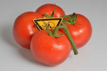 Mit Giftstoffen belastete Tomaten