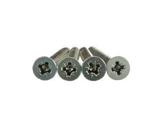 Four screws with flat cross head