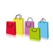 Farbige Einkaufstüten