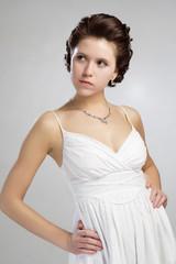 Portrait of beautiful vintage woman