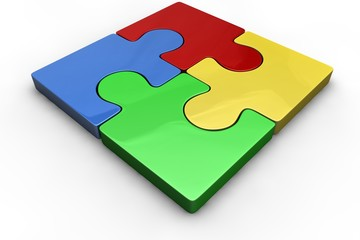 Puzzle-Quadrat