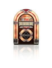 Juke box radio isolated on white background