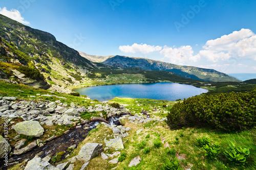 Staande foto Scandinavië Glacial Lake Calcescu in Parang mountains, Romania
