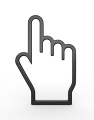 Hand cursor - 3d render