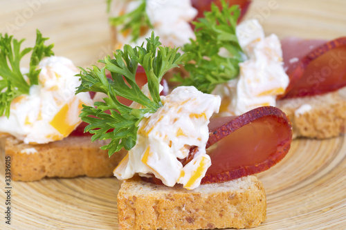 Appetizers with meat and cream cheese