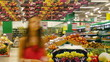 People in supermarket, time lapse