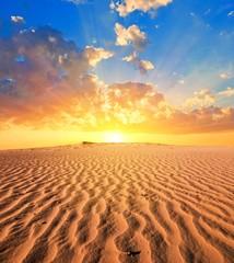 sand desert at the sunset