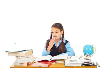 Surprised schoolgirl