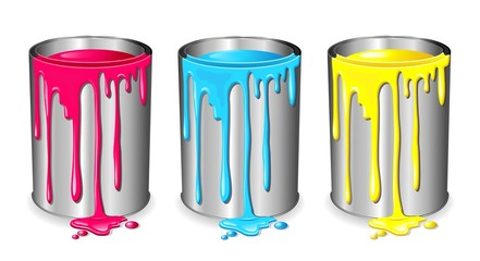 Barattolo di Vernice-Tin of Paint Varnish-Vector