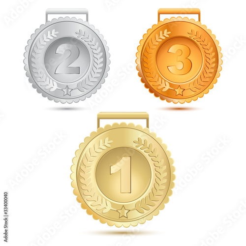 metallic medals