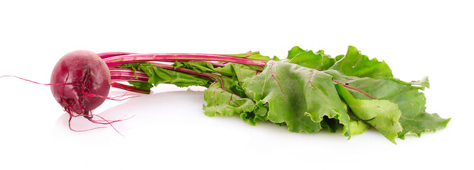 Beetroot isolated on white